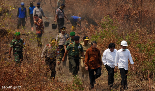 Jokowi keeps his promise to take over burned areas located in forestry concessions